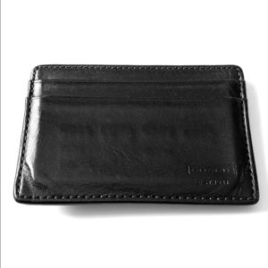 Coach men's money clip wallet (black leather)
